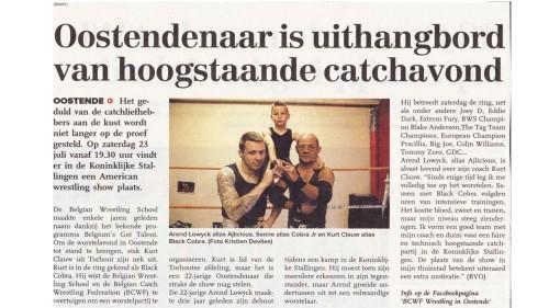 Catchg Artikel De Zeewacht 15 juli 2016
